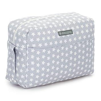 Bolsa de maternidad para maleta hospital y para el carrito del bebé by Mimuselina (ESTRELLAS GRIS)