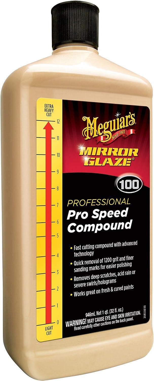 Meguiar's M100 Mirror Glaze Pro Speed Compound, 32 oz