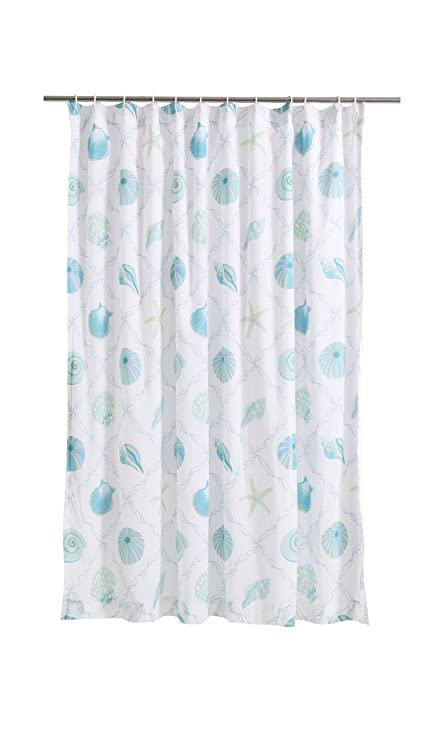 Levtex Marine Dream Seaglass Shower Curtain Blue Taupe Coastal