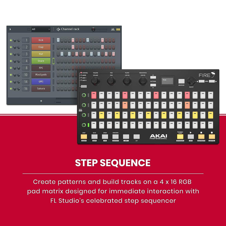 Akai Professional USB MIDI Controller for FL Studio with 64 RGB ...