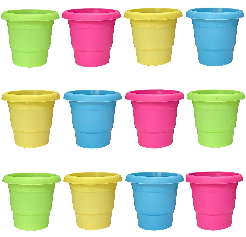 Mini Garden Flower Pots (Pack of 12)
