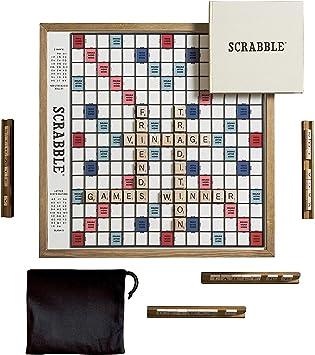 WS Game Company Scrabble Deluxe Edición Vintage con Tablero Giratorio de Juego: Amazon.es: Juguetes y juegos