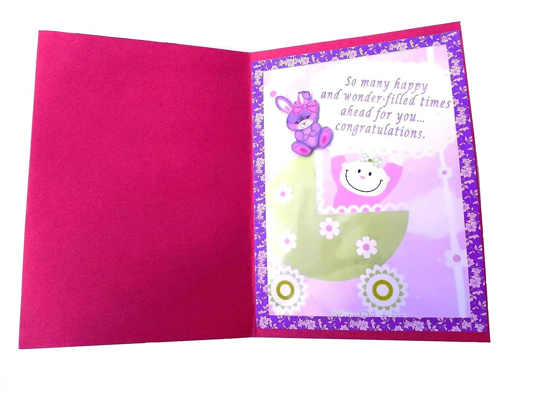 New Baby Birth Greeting Card RMantra Handmade Baby Birth Congratulations