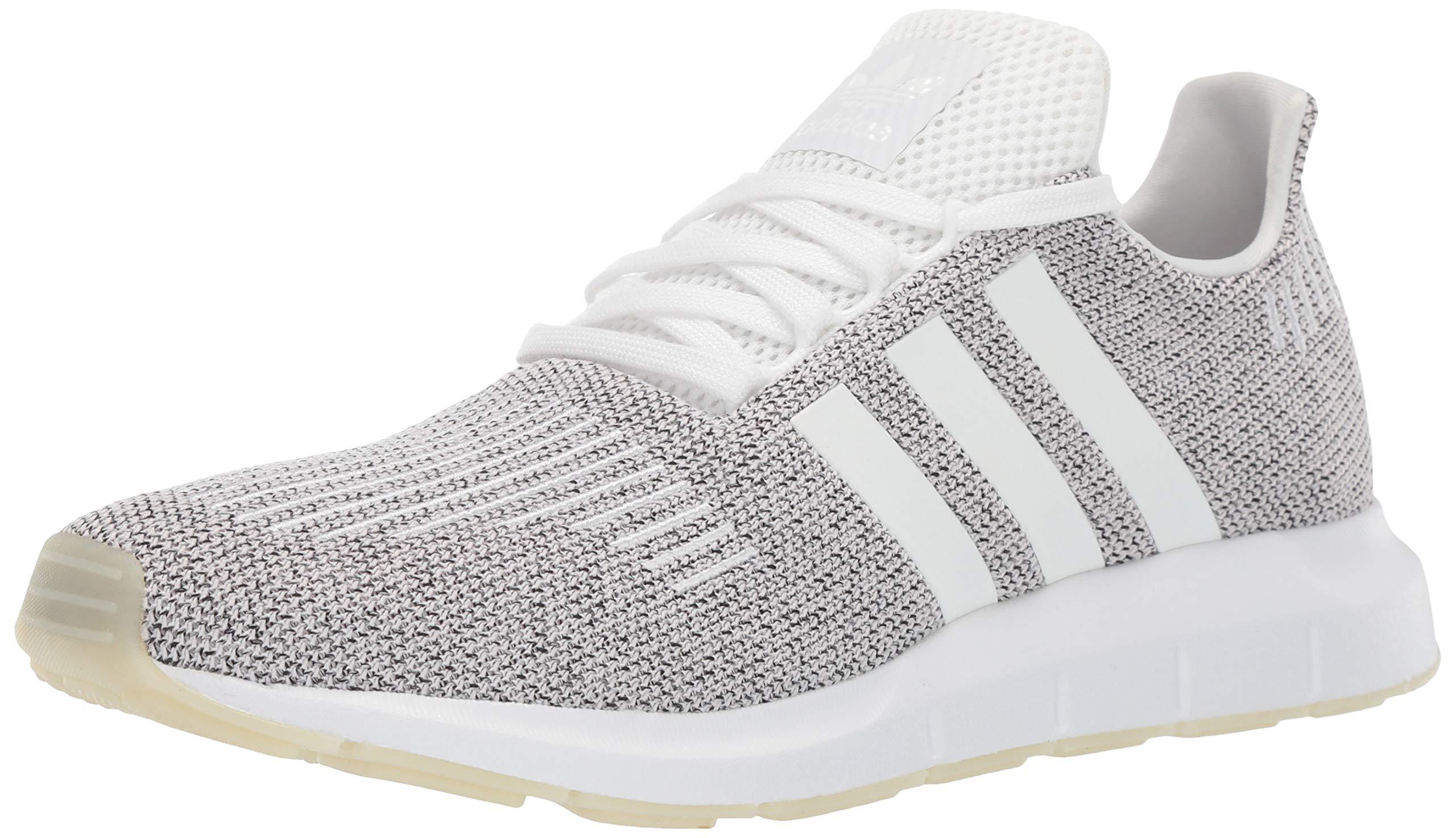 adidas Originals Men's Swift Running Shoe, White/Black, 4.5 M US