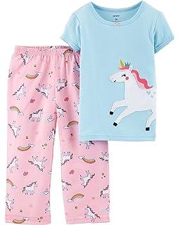 753dbb3b7 Carter s Girls  Toddler 2-Pack Fleece Pajamas  Amazon.co.uk  Clothing
