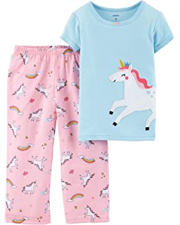 e9c2c37f34dc Carter s Girls  Toddler 2-Pack Fleece Pajamas  Amazon.co.uk  Clothing