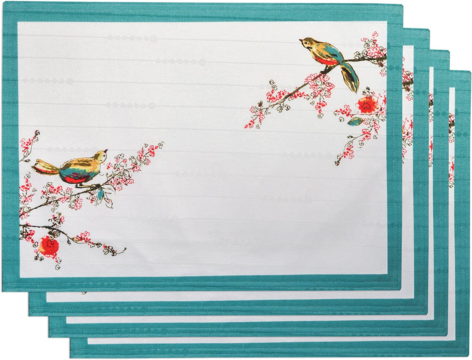Multi 7359 Lenox Chirp Print Pack of 4 Placemats