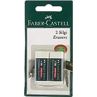 Faber-Castell 5500188530 F.C. 2 Plastik Silgi 7085/30, Beyaz