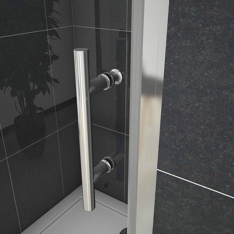 Mamparas Puerta Abatible Pantalla de Ducha 6mm cristal para Ba/ño 80x185cm