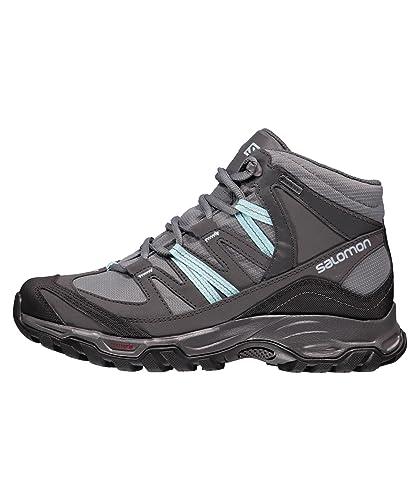 SALOMON Womenâ€TMs Mudstone Gore TEX Hiking Boot, Grey, UK5