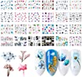 Nail Art Stickers, FunPa 24 Sheets Nail Stickers Floral Pattern Water Transfer DIY Nail Decals Self-Adhesive Stickers for Women Girls Nail Art Accessories Decals Manicure DIY or Nail Salon