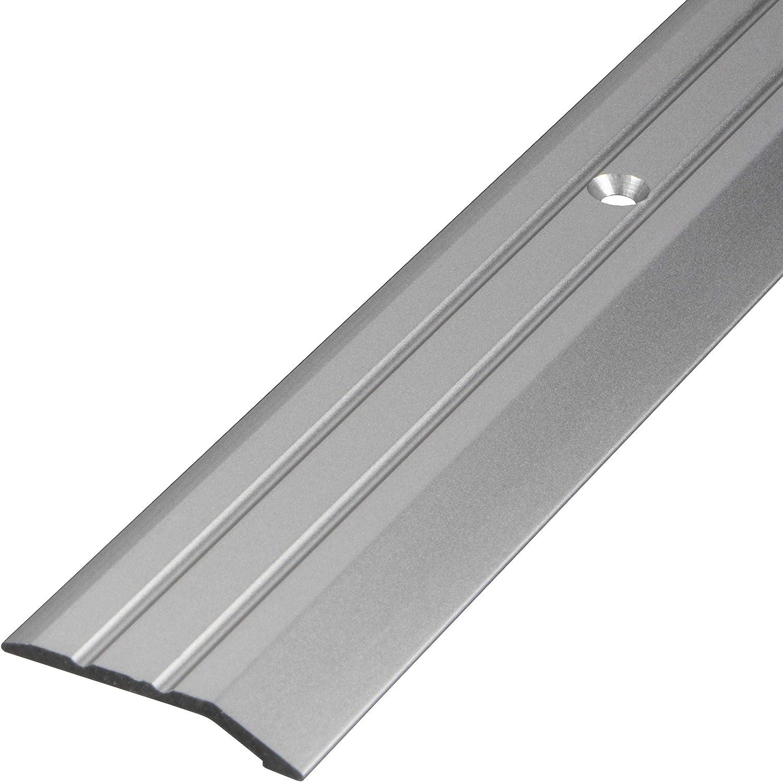/Übergangsschiene zum Schrauben Abdeckleiste 200 cm 1 St/ück Fu/ß-Boden-Leiste h/öhen-ausgleich Gedotec Aluminium /Übergangsprofil gelocht Abschlussprofil Alu Ausgleichsprofil bronze eloxiert