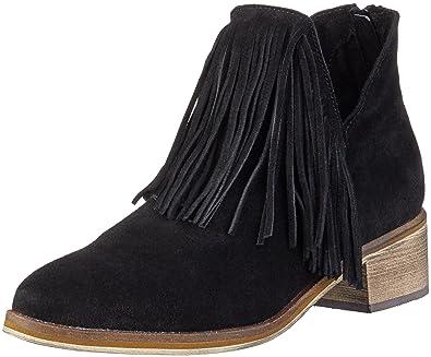 Leather Femme Noir Vero Boot Bottes Moda Courtes Vmlaure YvWp1W8