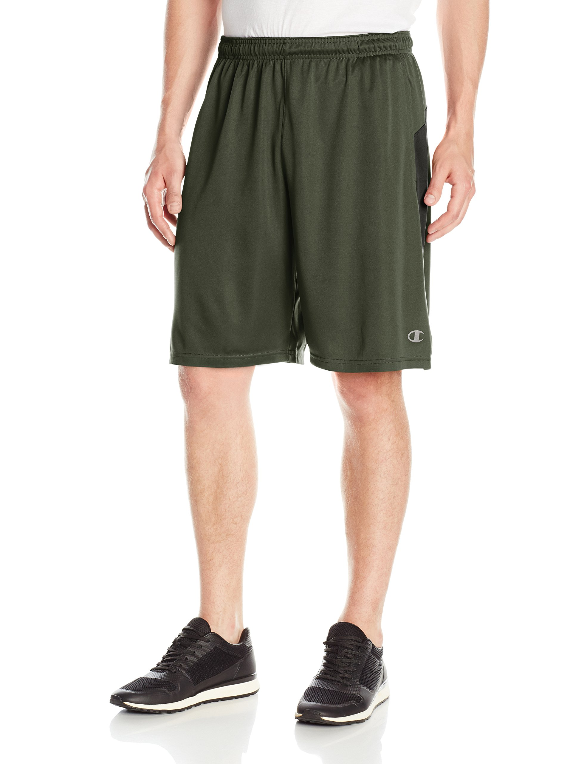 Champion Men's Double Dry Select Short, Forest Grove/Black, L
