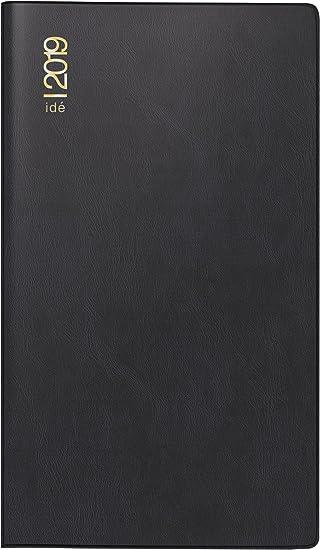 rido/idé 701221290 Taschenkalender/Plankalender TM 17/contacter, 2 Seiten = 1 Woche quer, 153 x 87 mm, Kunststoff-Einband schwarz, Kalendarium  2019