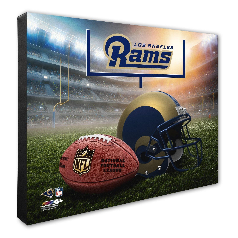 NFLヘルメット& Stadium高解像度キャンバス 16\ Los Angeles Rams B06Y674WRG