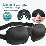 Premium Schlafmaske, UNIMI 3D Augenmaske schlafen bequem und weich. Augenmaske für Damen Und Herren, Augenmaske mit Gummiband für einen tiefen und erholsamen Schlaf Komplett Dunkelheit gegen Licht im