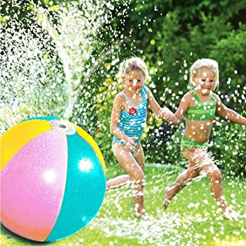 Pueri Splash y Spray Ball Bola de agua hinchable Water Jet Ball ...