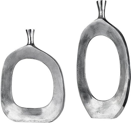Grey Handcrafted Silver Stunning Contemporary Designs Aluminium Vases Copper