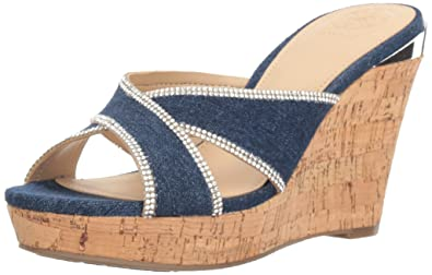 8a4ead47d Amazon.com | Guess Women's Eleonora3 Wedge Sandal | Platforms & Wedges