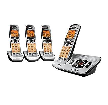 amazon com uniden d1680 4 cordless phone answering system with 4 rh amazon com