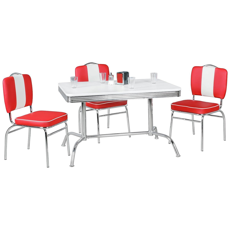 FineBuy KING - American Diner Esstisch 120 x 76 x 80 cm aus MDF ...
