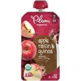 Plum Organics Stage 2, Organic Baby Food, Apple Raisin and Quinoa, 3.5 Ounce Pouch (Pack of 6)