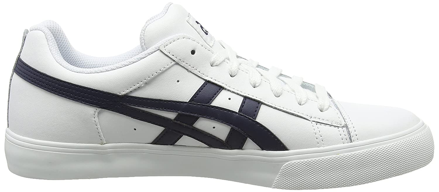 Asics NS-Court - Zapatillas Bajas, Unisex, Color Blanco (White/Navy 0150), Talla 37.5