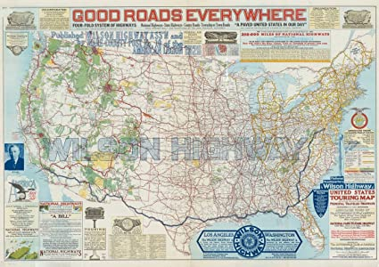 Amazon.com: Historic Map | United States 1926 2 | United ...