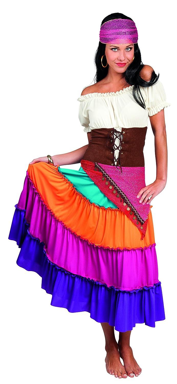 Boland Gitana Gipsy Nadya Deluxe Costume Donna per Adulti, Multicolore, S (36 38) 87773