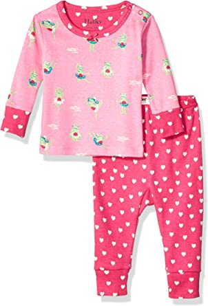 18-24 Mesi Hatley Mini Organic Cotton Long Sleeve Pyjama Sets Pigiama Bimba Taglia Produttore: 18M-24M Rosa Pretty Princesses 650