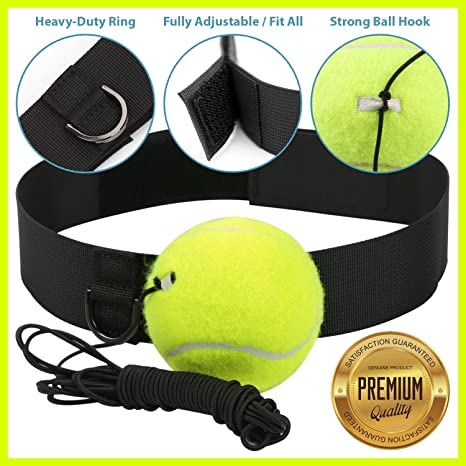 Poagl - Juego de pelotas de boxeo con banda para la cabeza, para ...