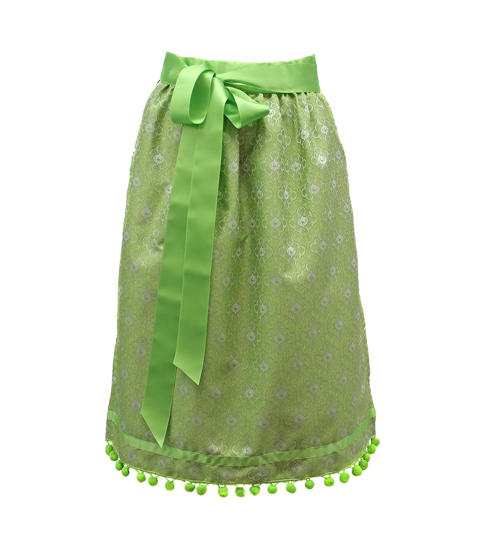 Dirndlschürze grün Schürze Dirndlschürzen Moda Bavarica Hirsch Dirndl Damen 70cm lang