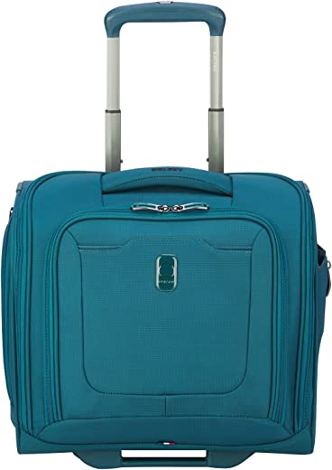 DELSEY Paris Hypergilde Softside Luggage Under-Seater with 2 Wheels, Teal Blue