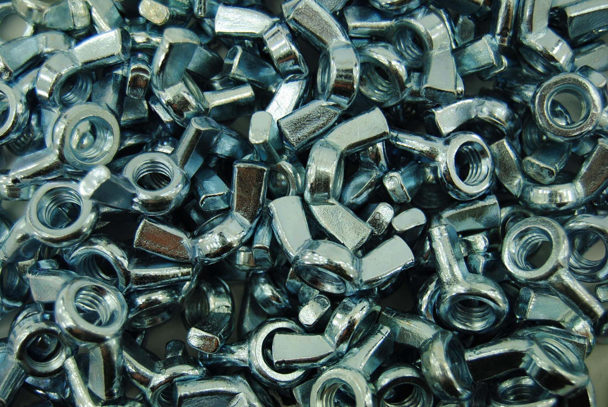 (250) Forged Wing Nuts 3/8-16 Zinc Plated - Coarse