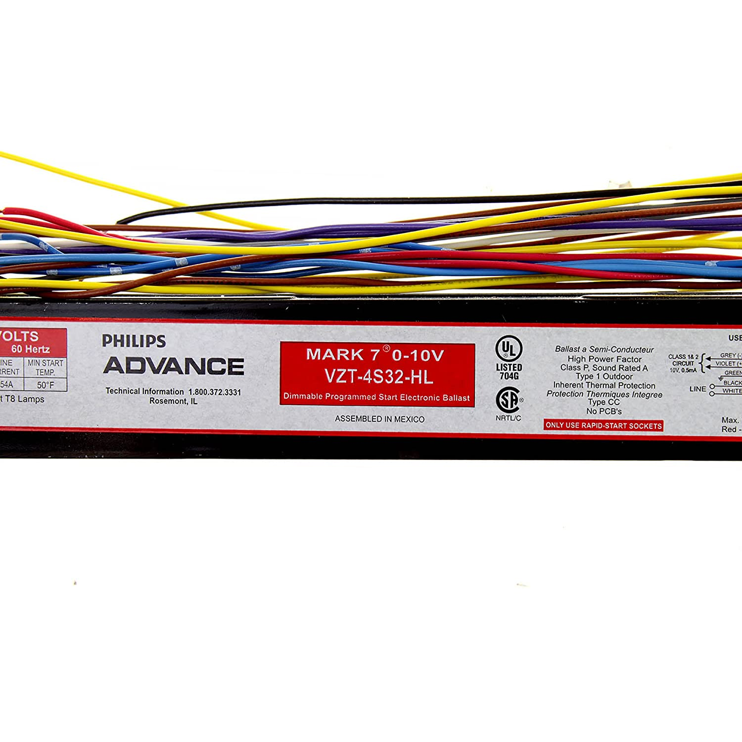 Advance Vzt 4s32 Hl Mark 7 0 10v Dimmable Electronic Ballast 277v Wiring Dimmers F32t8 4 Lamp
