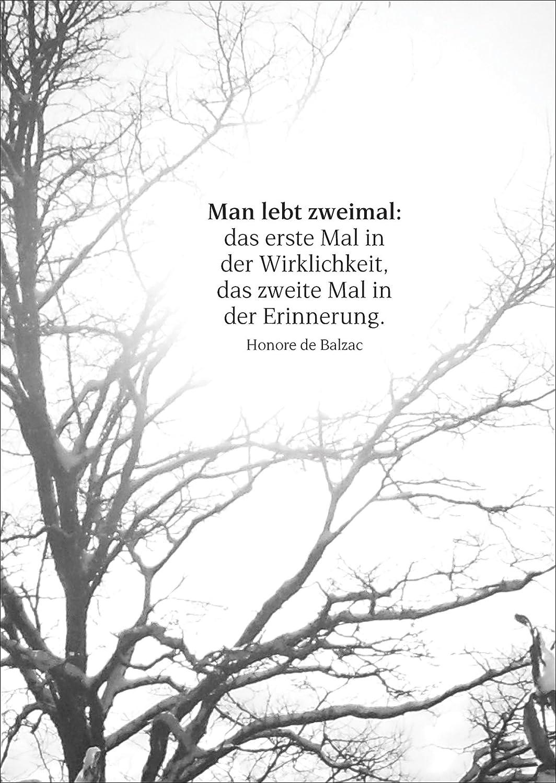 Gedankenvolle Trauerkarte Mit Balzac Zitat Als Beileids Spruch U2022 Auch Zum  Direkt Versenden Mit Ihrem Persönlichen Text Als Einleger.