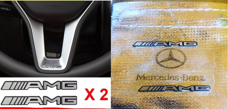 X2/AMG volant Autocollant Badge Logo...