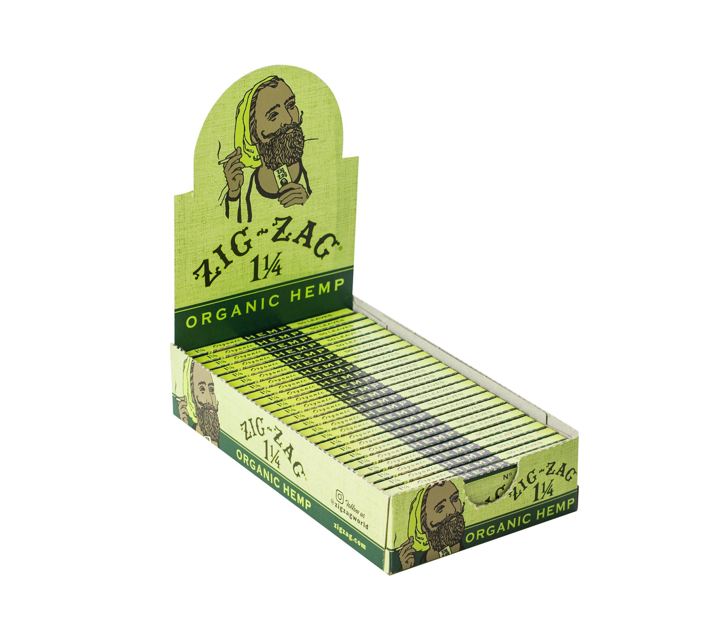 Zig Zag 1 1/4 Size Organic Hemp Rolling Paper by ZIG-ZAG