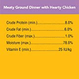 PEDIGREE Adult Wet Dog Food Chopped Meaty Ground