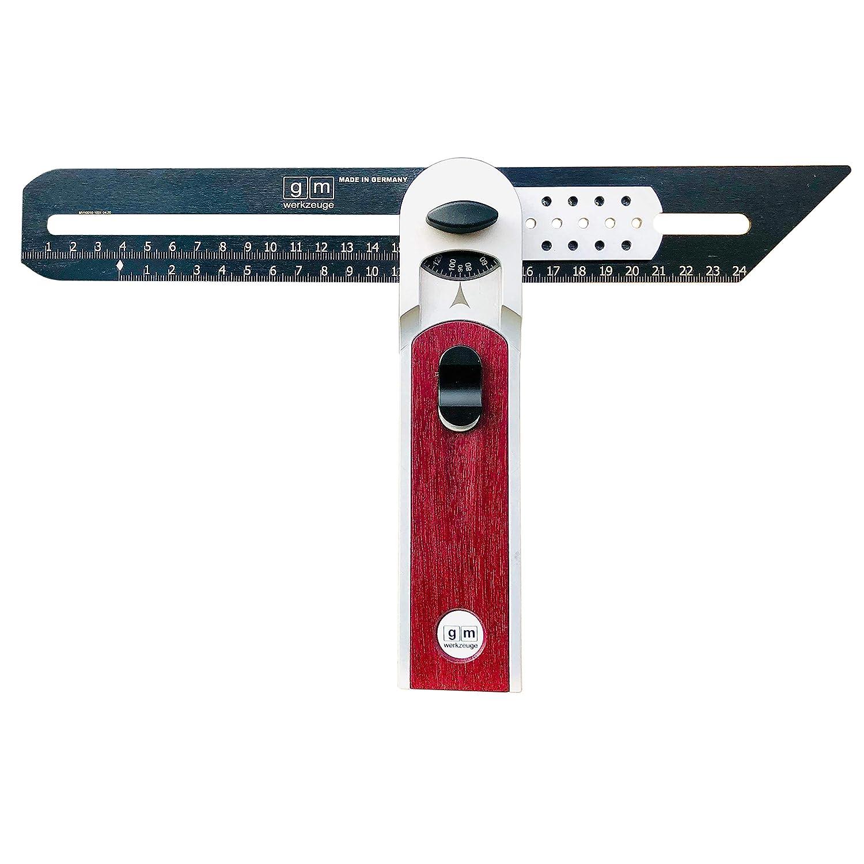 6 Pr/äzisionswerkzeuge in einem Winkel Schmiege Gehrma/ß Winkelmesser Streichma/ß Multifunktionswinkel GM Multiwinkel 330 Purple Heart Amaranth Holz