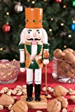 """Clever Creations Traditional Wooden King Nutcracker Festive Christmas Decor 