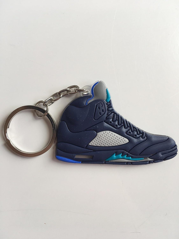 SneakerKeychainsNY Jordan Retro 5 Pre UVA Zapatillas Llavero Zapatos Llavero AJ23 OG