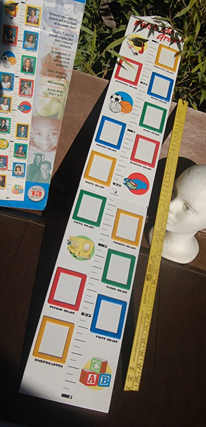 Amazoncom Watch Me Grow Growth Chart With Picture Frames Toys