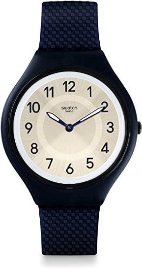 Swatch Reloj Digital para Unisex de Cuarzo con Correa en Silicona SVUN101: Amazon.es: Relojes