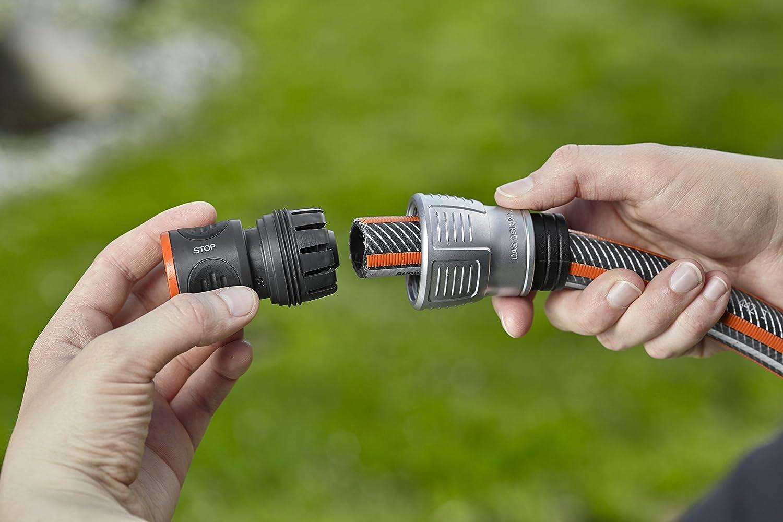 Gardena Premium Wasserstop 19 mm 34 Zoll Aquastop schneller Gerätewechsel