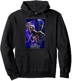 Marvel Black Panther Movie Wakanda Purple Poster Hoodie