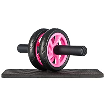 Ultrasport Wheel, Roller, AB Abdominal Aparato de Entrenamiento y Ayuda para Bajar de Peso