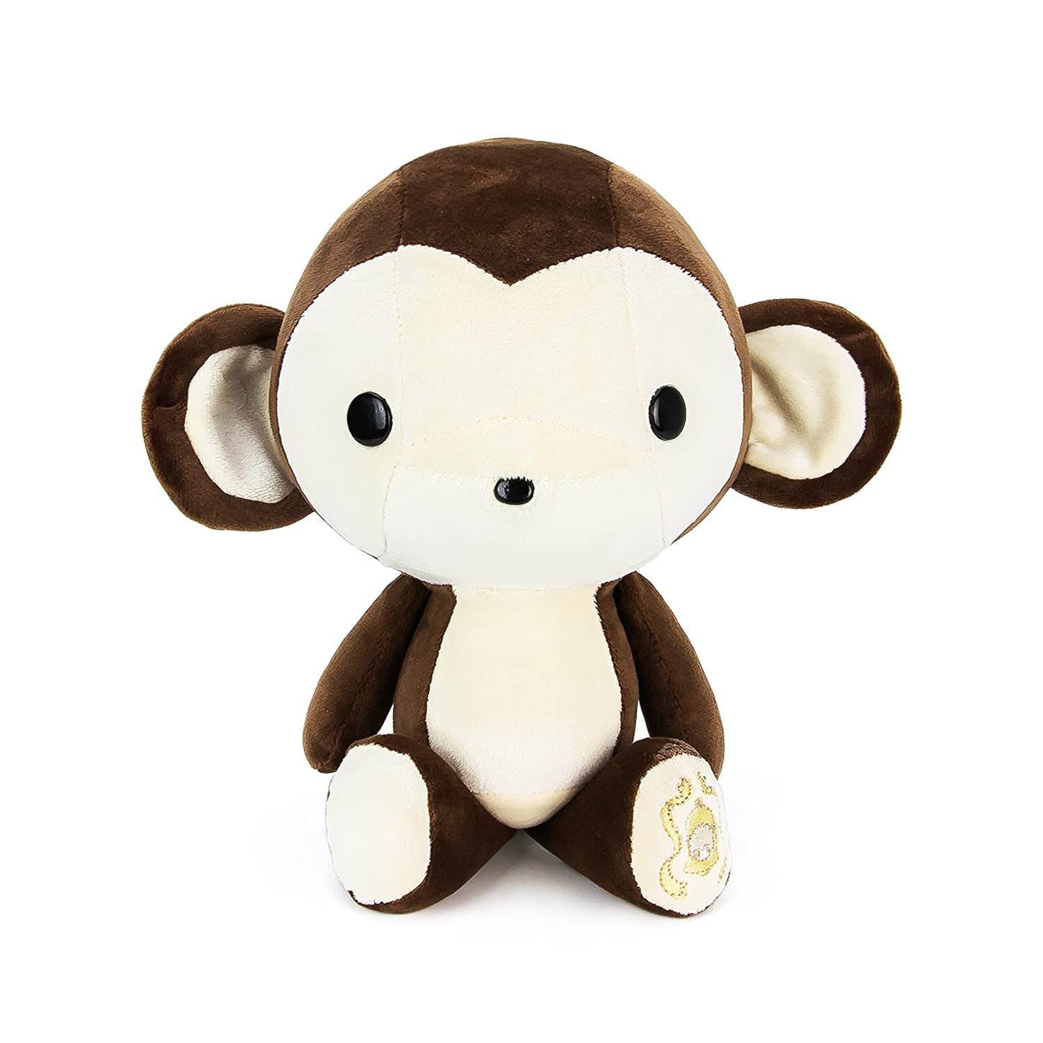 Amazon Com Bellzi Brown Monkey Stuffed Animal Plush Toy Adorable
