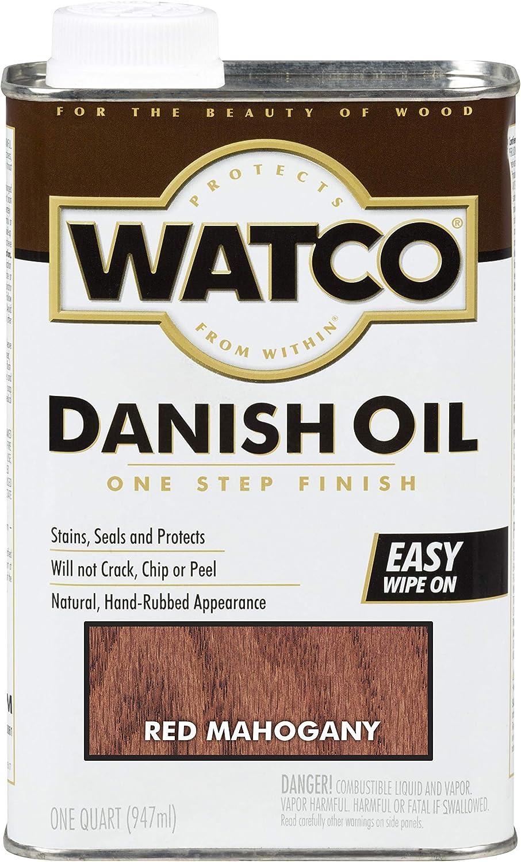 Rust-Oleum 214380 Watco Danish Oil, Quart, Red Mahogany
